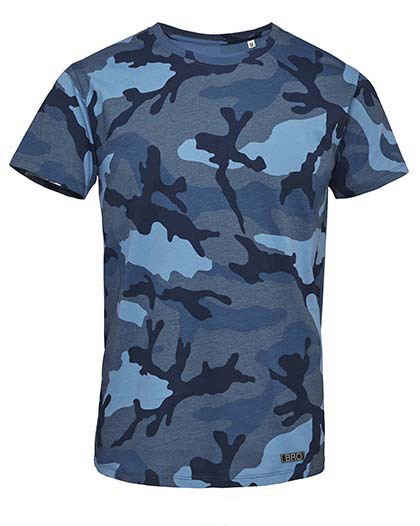 Ray Bronson outdoor t-shirt camouflage blau