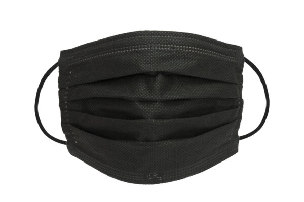 Schwarze OP-Masken, medizinische Mundnasenmaske